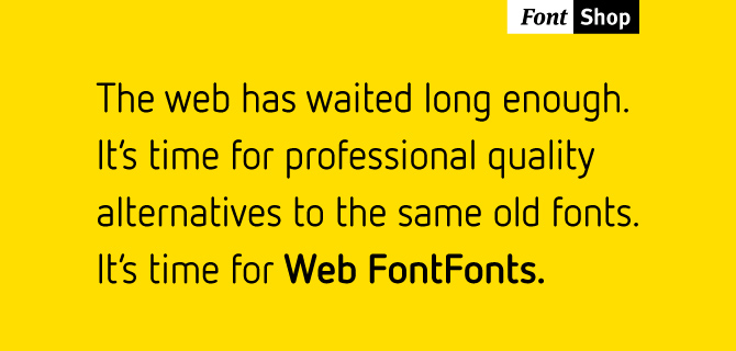 Fontshop's announcement